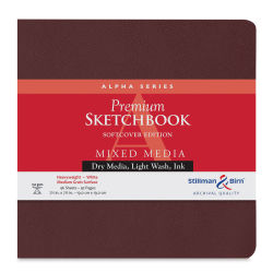 Stillman & Birn Alpha Series Sketchbook - 7-1/2'' x 7-1/2'', Soft Cover, 46 sheets
