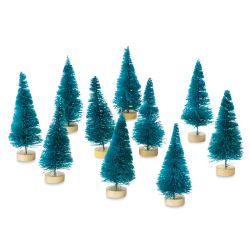 Darice Sisal Tree - Green, 3'' Tall, Pkg of 10