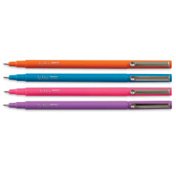 Marvy Uchida LePen Fine Line Marker Set  - Brilliant Colors, Set of 4