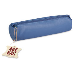 Clairefontaine Round Leather Pencil Case - Blue
