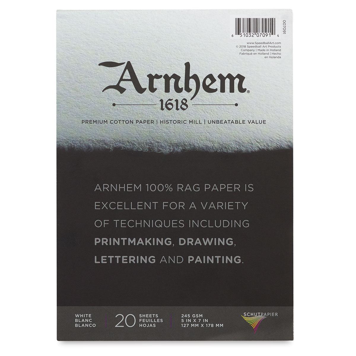 Arnhem 1618 Paper Pad by Speedball - 5 x 7, 20 Sheets