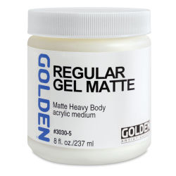 Golden Regular Acrylic Gel Medium - Matte, 8 oz jar