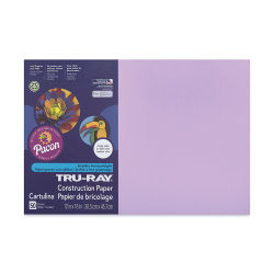 Pacon Tru-Ray Construction Paper - 12'' x 18'', Lilac, 50 Sheets