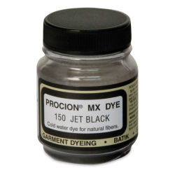 Jacquard Procion MX Fiber Reactive Cold Water Dye - Jet Black, 2/3 oz jar
