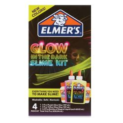 Glow in the Dark Slime Kit, Purple and Yellow