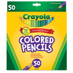 Crayola Colored Pencil Set - Assorted Colors, Set of 50