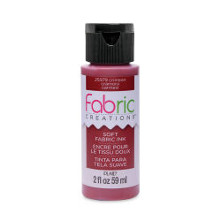 Plaid Fabric Creations Soft Fabric Ink - Crimson, 2 oz