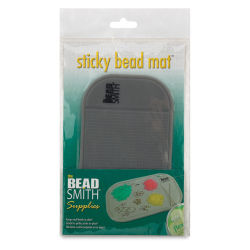 Beadsmith Sticky Bead Mat - Mini, Grey, 3-1/4'' x 5-1/2''