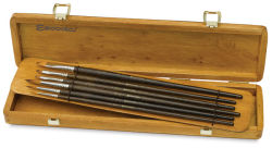 Escoda Prado Tame Synthetic Brush Set - Long Handle, Set of 6