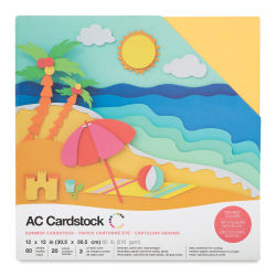 AC Cardstock Papers - 12'' x 12'', Summer Colors, Pkg of 60 Sheets