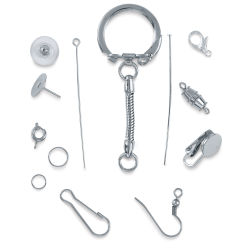 Jewelry Findings Assortment - Nickel Finish