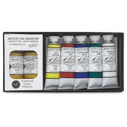 Solvent Free Oil Color set w/FREE Mediums