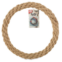 Pepperell Crafts Natural Jute Rope Wreath - 10''