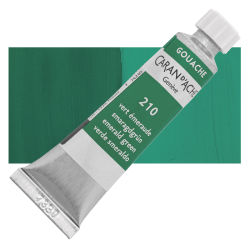 Caran d'Ache Gouache Studio Tubes and Sets - Emerald Green, 10 ml, Tube
