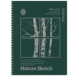 Pentalic Nature Sketch Book - 15'' x 11'', 50 Sheets