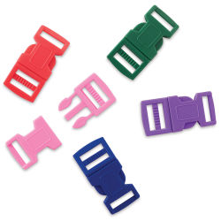 John Bead Craft Paracord Buckles - Assorted Colors, 15 mm, Set of 5