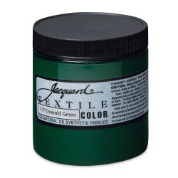 Jacquard Textile Color - Emerald Green, 8 oz jar