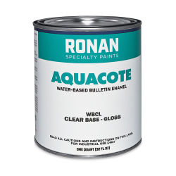 Ronan Aquacote Water-Based Acrylic Color - Clear Base Gloss, Quart