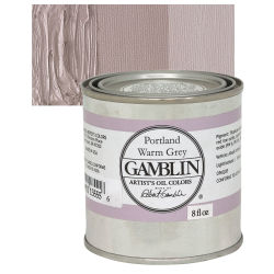 Gamblin Artists' Oil Color - Portland Warm Gray, 8 oz can