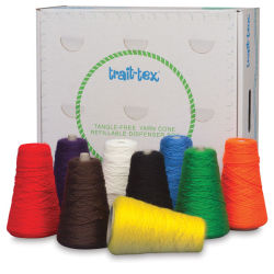 Trait-Tex Standard Weight Yarn - 8 oz, 2-Ply, Set of 9, Assorted Bright Colors