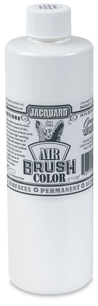 Jacquard Airbrush Paint - 16 oz, Opaque White