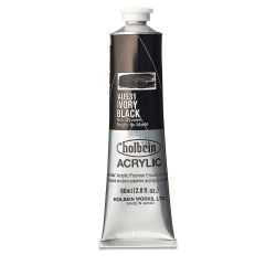 Holbein Heavy Body Artist Acrylics - Ivory Black, 60 ml tube