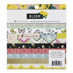 "American Crafts Cardstock Pack - Bloom, 6"" x 6"", 24 Sheets"