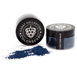 Colorberry Carat Collection Dry Resin Pigment - Deep Blue, 50 g, Jar (Shown in and out of jar)
