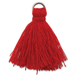 John Bead Cotton Tassels - Red, Pkg of 4