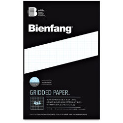 Bienfang Cross-Section Graph Paper - 11'' x 17'', 4 x 4 Grid, 50 Sheets