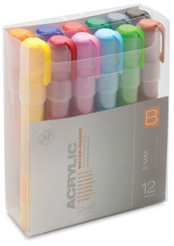 Montana Acrylic Markers - Set of 12, Set B, Fine Point