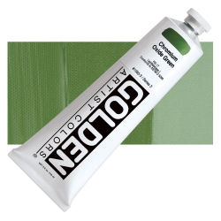 Golden Heavy Body Artist Acrylics - Chromium Oxide Green, 5 oz Tube