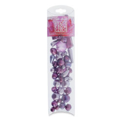 John Bead Czech Glass Bead Mix - Purple Velvet Pearls, 100g