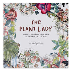 The Plant Lady: A Floral Coloring Book with Succulents and Flowers,Book Cover