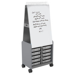 Smith Systems Cascade Spiral Noteboard Unit - Platinum, 3'' Totes, No Doors