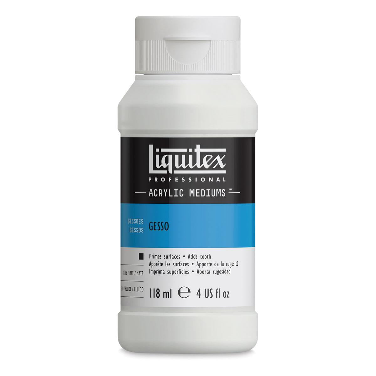 Liquitex Acrylic Gesso - White, 4 oz bottle