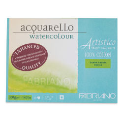 "Fabriano Artistico Enhanced Watercolor Block - Traditional White, Rough Press, 12"" x 16"""