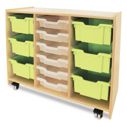 Whitney Brothers Green Tray Storage Cabinet