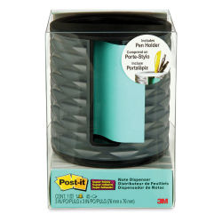 3M Post-it Pop Up Dispenser and Pen Holder - Dark Grey