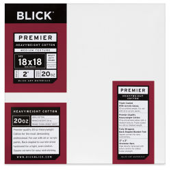 Blick Premier Heavyweight Profile Cotton Canvas - 18'' x 18'', 2'' Profile