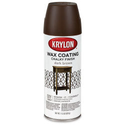 Krylon Chalky Finish Spray Paint - Finishing Wax, Dark Brown