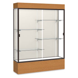Waddell Reliant Series Display Case - Lighted Case, 60'', Plaque Back