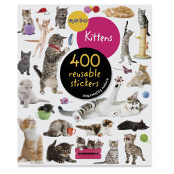 Eyelike Kittens Reusable Stickers, Book Cover
