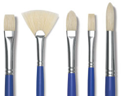 Blick Scholastic White Bristle Brushes and Sets
