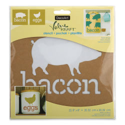 DecoArt Value Kraft Stencils - Bacon and Eggs