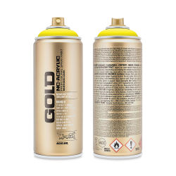 Montana Gold Acrylic Professional Spray Paint - 100% Yellow, 400 ml can