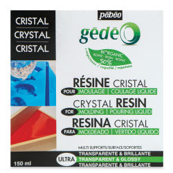 Pebeo Gedeo Bio-Based Resin - Crystal Resin, 150 ml