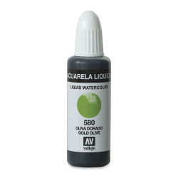 Vallejo Liquid Watercolor - Gold Olive, 32 ml