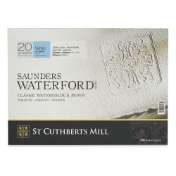 "Saunders Waterford Watercolor Block - 10"" x 14"", Cold Press, 140 lb, 20 Sheets (front cover)"