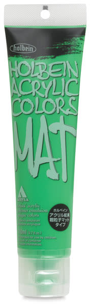Holbein Mat Acrylic - Light Green, 110 ml tube